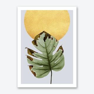 Dancing Leaf in the Sun Art Print
