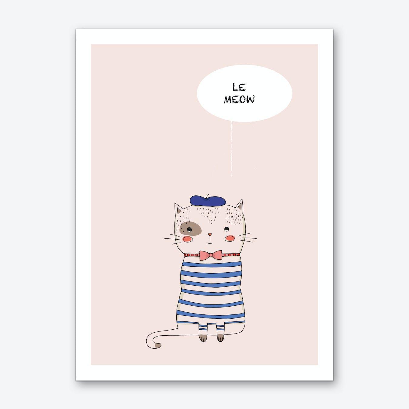 Le Meow Art Print