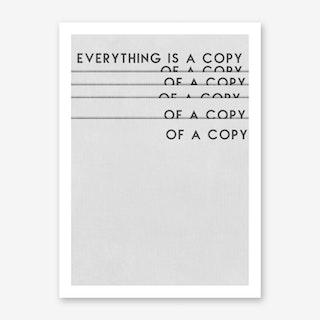 Copy of A Copy Art Print