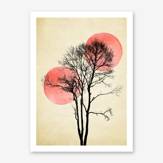 Sun and Moon Hiding Art Print