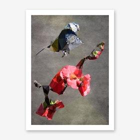 Chubby Bird Art Print