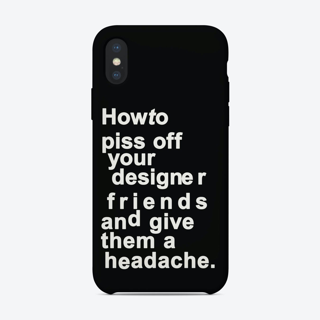 The Headache Black iPhone Case
