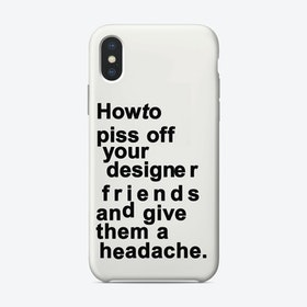 The Headache White iPhone Case