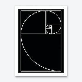 Proportio Divina (Black) Art Print