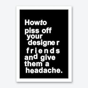 The Headache (black) Art Print