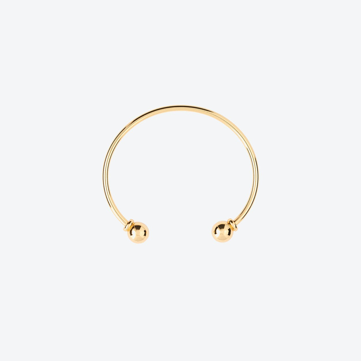 1970s 18k Gold Plated Open Torque Bangle