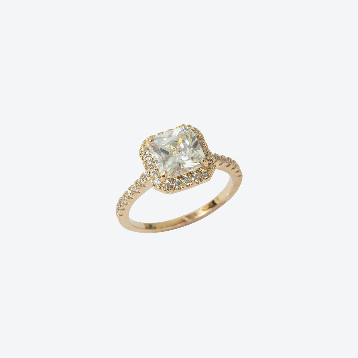 Rose Gold Statement Stone Ring