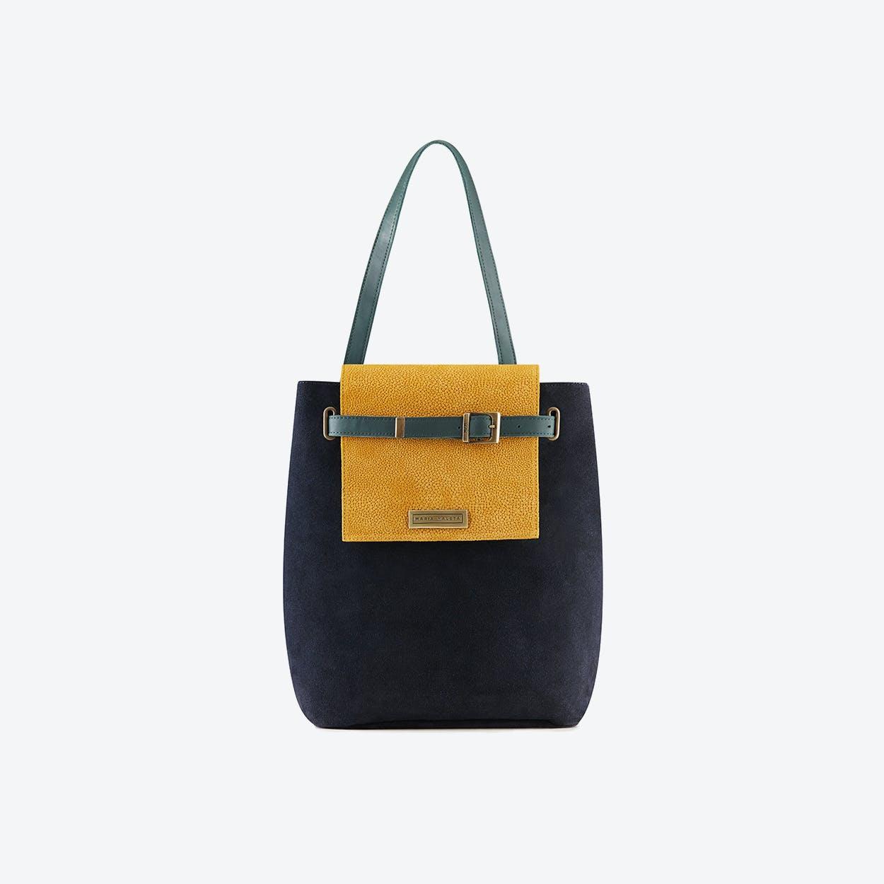 Yellow Jungle Bucket Bag