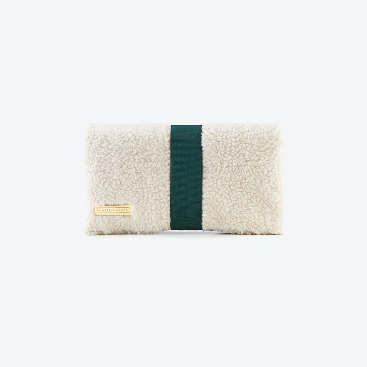 White Shearling Clutch