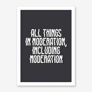 Moderation Art Print