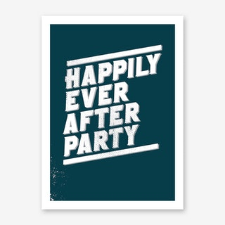 Happily Art Print