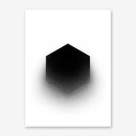 Fading Hexagon Art Print