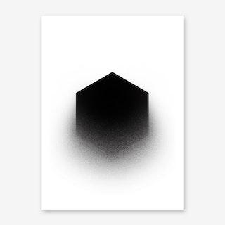 Fading Hexagon Art Print