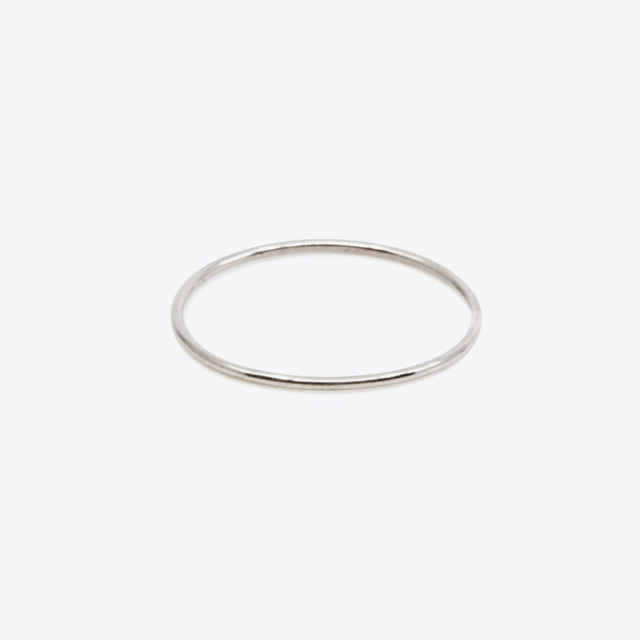 RING Thin in White Gold