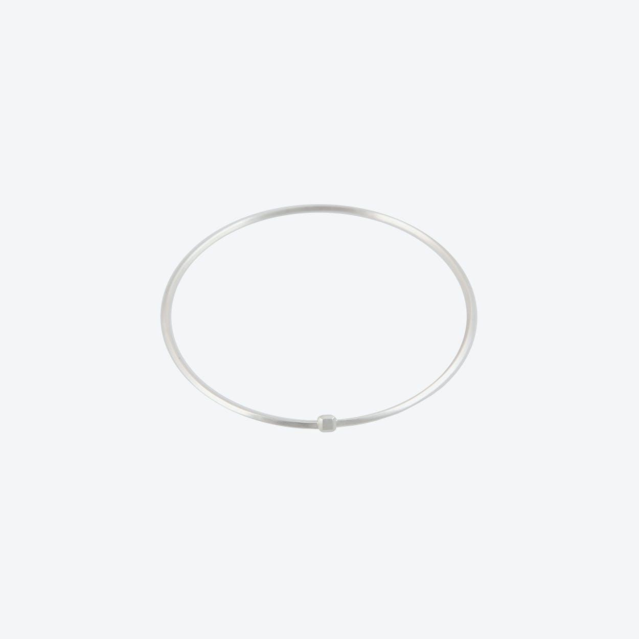 Single Square Bracelet in Sterling Silver
