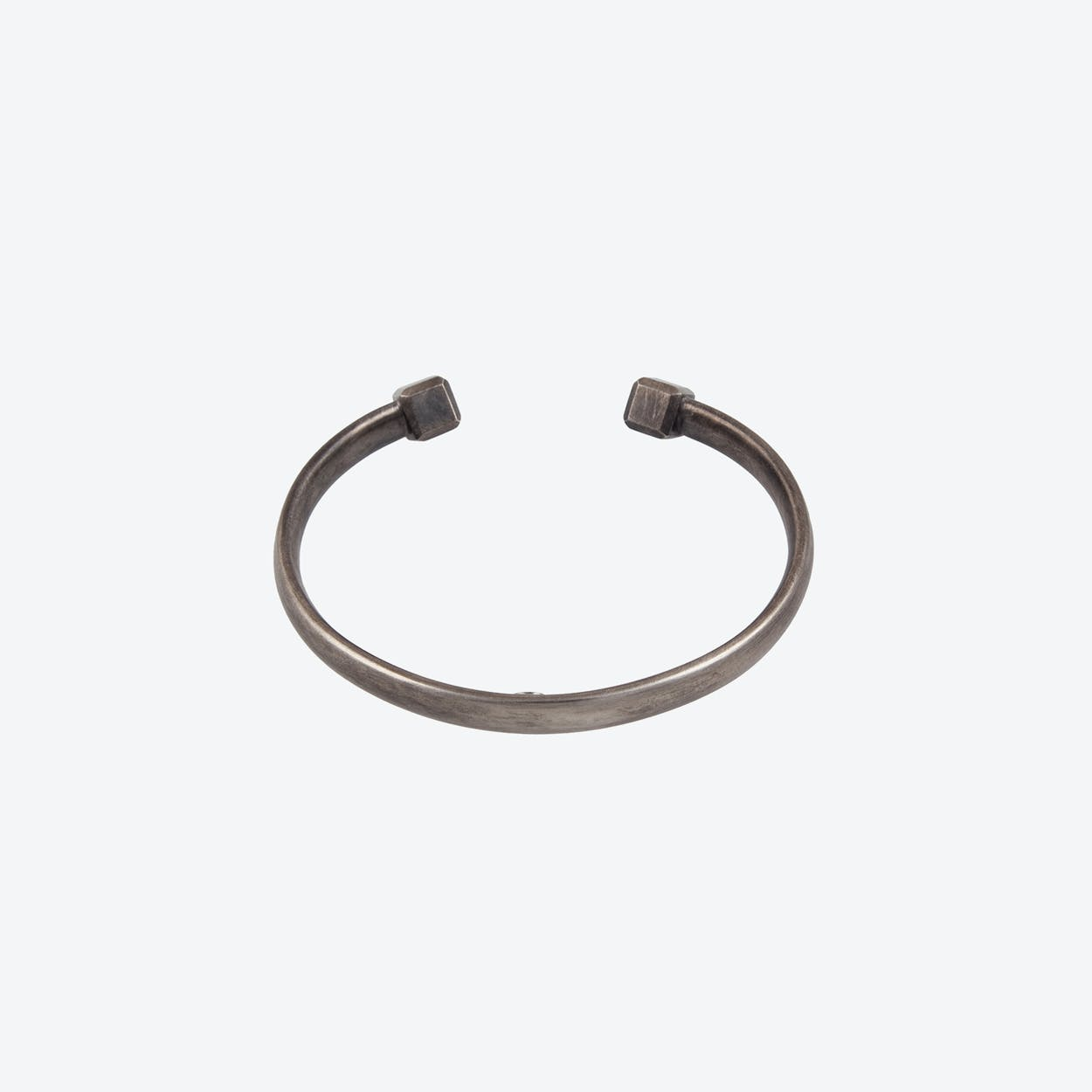 OVAL X Slim Bracelet in Oxidized Sterling Silver