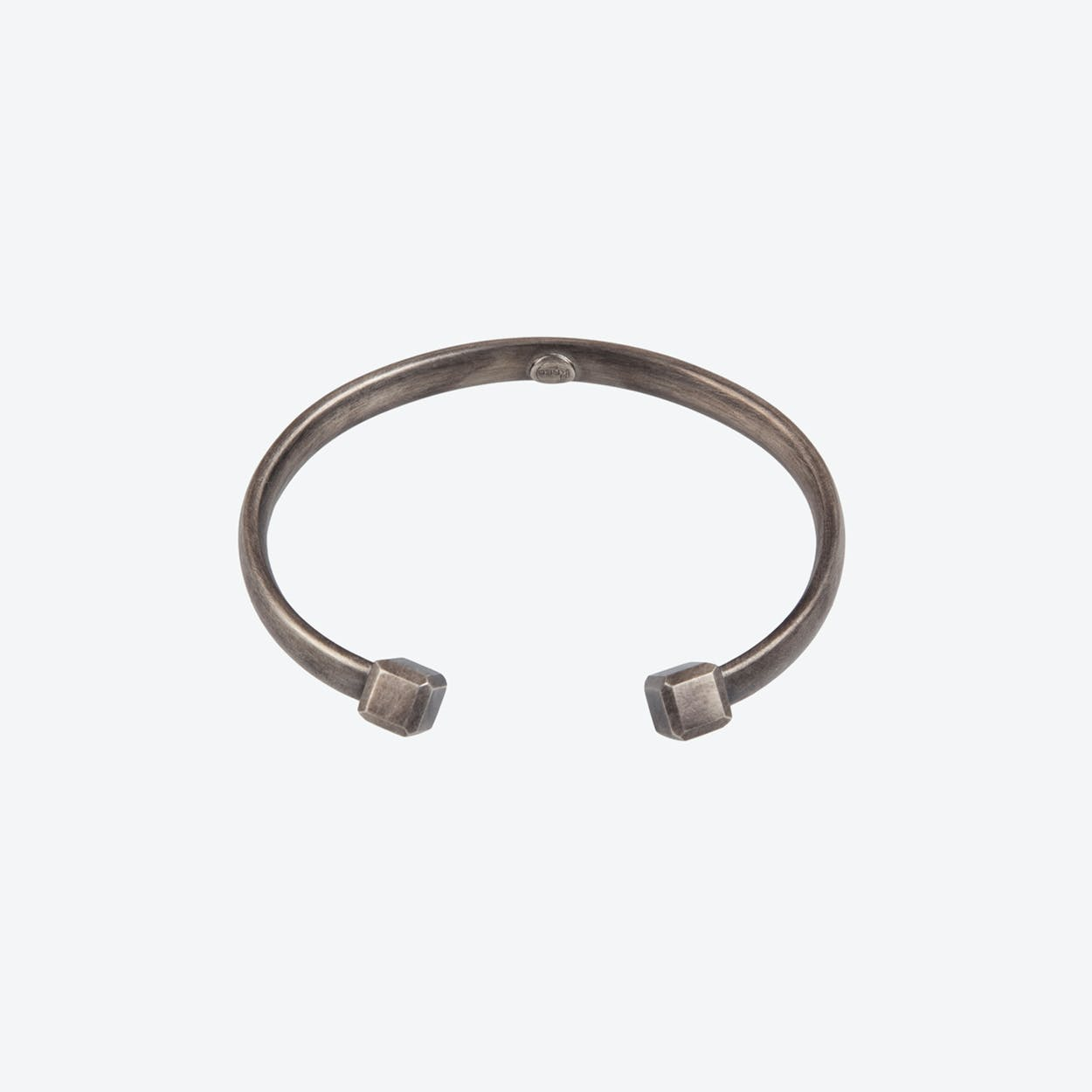 OVAL X Strong Bracelet in Oxidized Sterling Silver