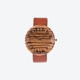 Zebrano Colors Wooden Watch