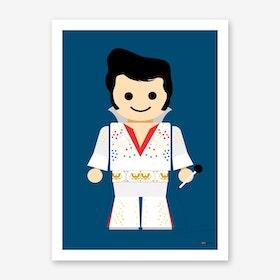 Toy Elvis Art Print