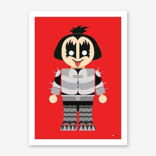 Toy Gene Simmons Art Print
