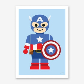 Toy American Captain Art Print