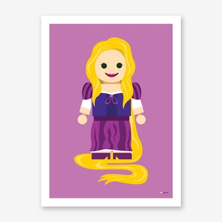 Toy Princess Rapunzel Art Print