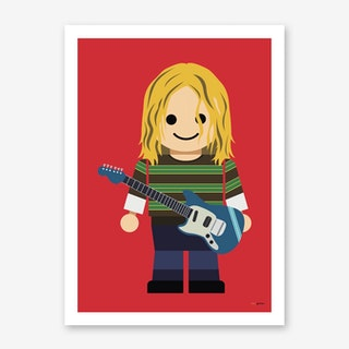 Toy Kurt Cobain Art Print