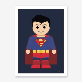 Toy Superman Art Print