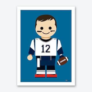 Toy Tom Brady Art Print