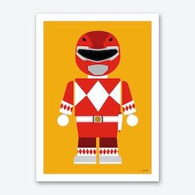 Toy Power Ranger Red  Art Print