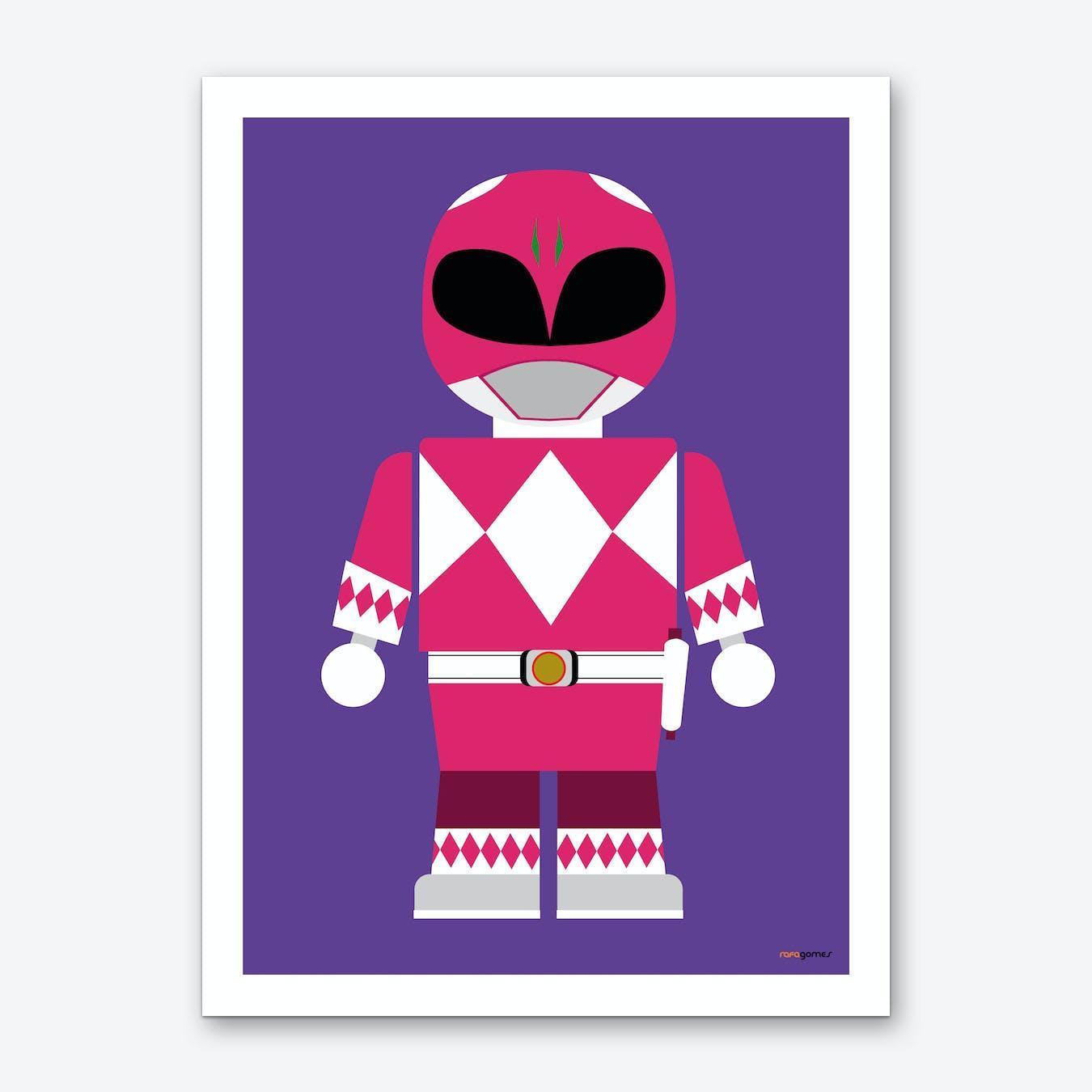 Toy Power Ranger Pink  Art Print