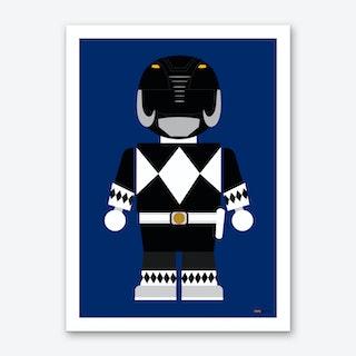 Toy Power Ranger Black  Art Print