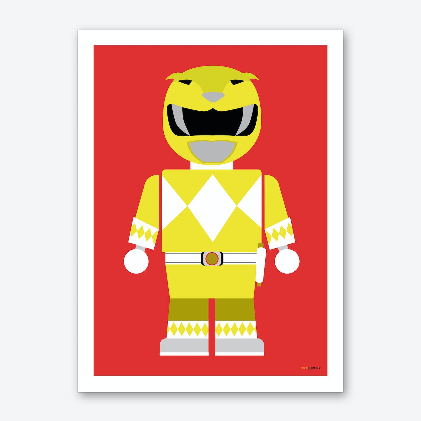 Toy Power Ranger Yellow  Art Print