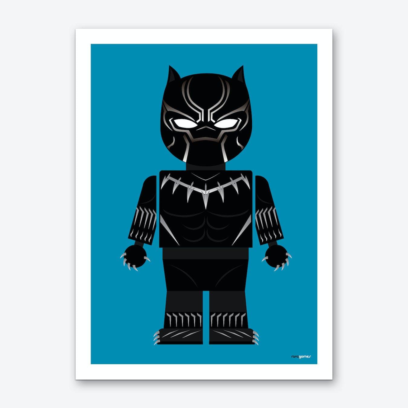 Toy Black Panther Art Print