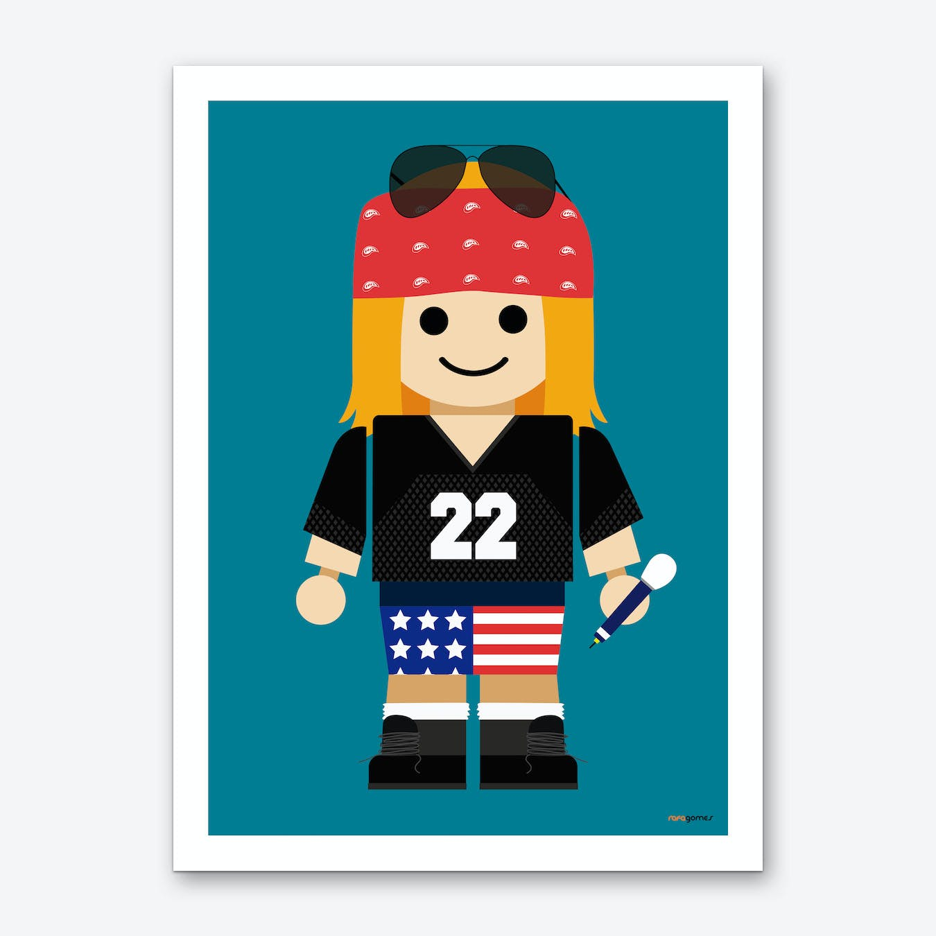 Toy Axl Rose Art Print
