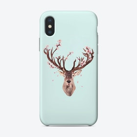 Cherry Blossom Deer Phone Case