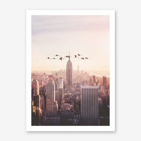 Flamingos in New York Art Print