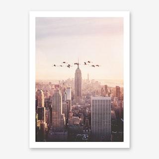 Flamingos in New York Art Print