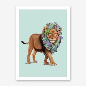 Succulent Lion Art Print
