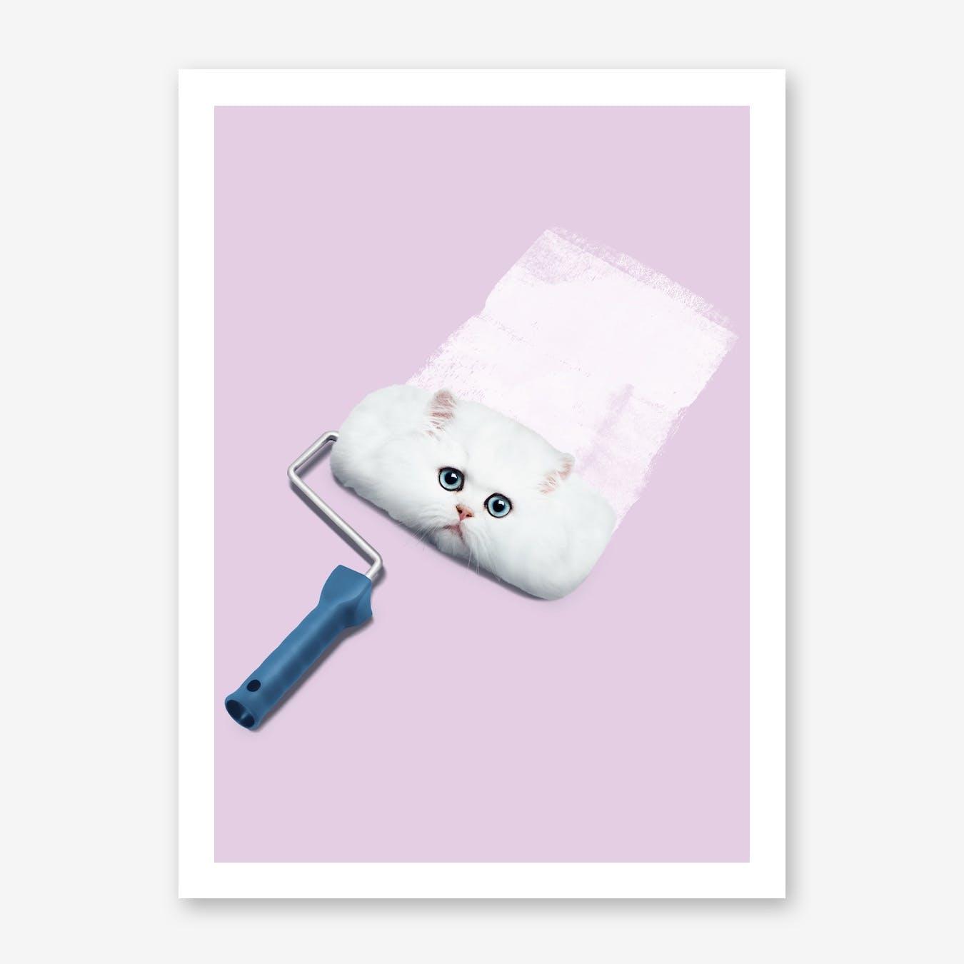 Paint Roller Cat