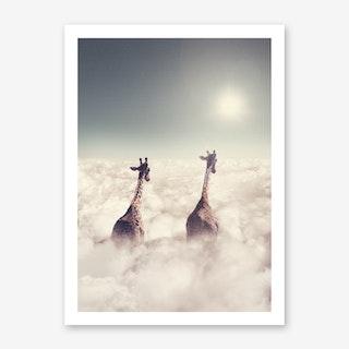 Giant Giraffes Art Print