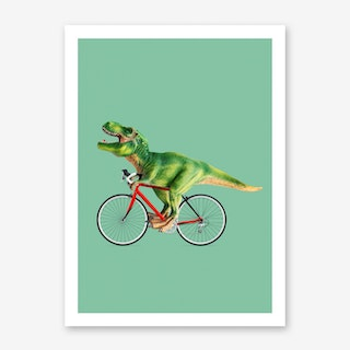 T-Rex Bike Art Print