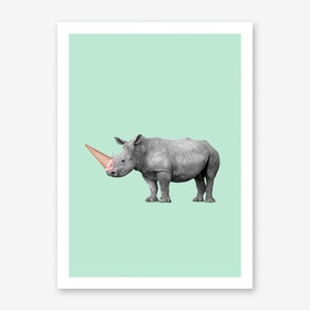 Ice Cream Rino Art Print