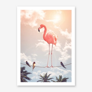 Flamingo & Friends Art Print