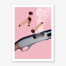 Lipstick Gun Art Print