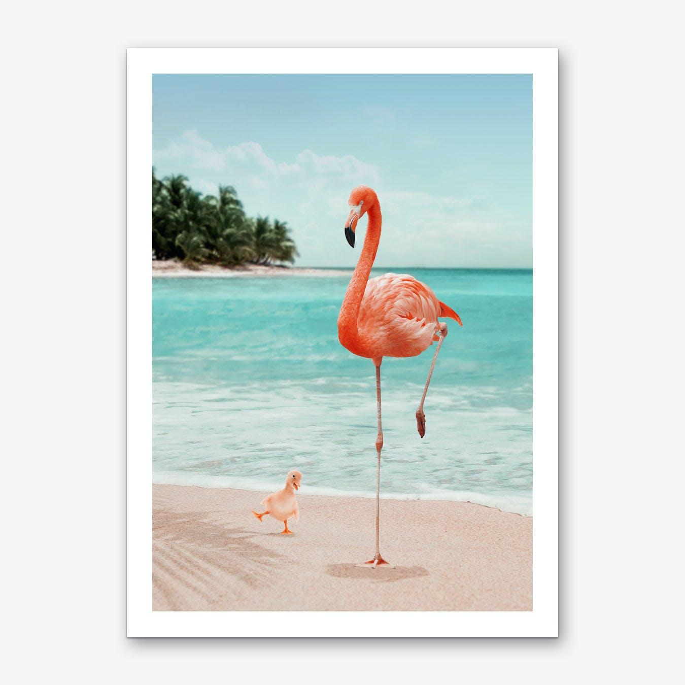 Wannabe Flamingo Art Print
