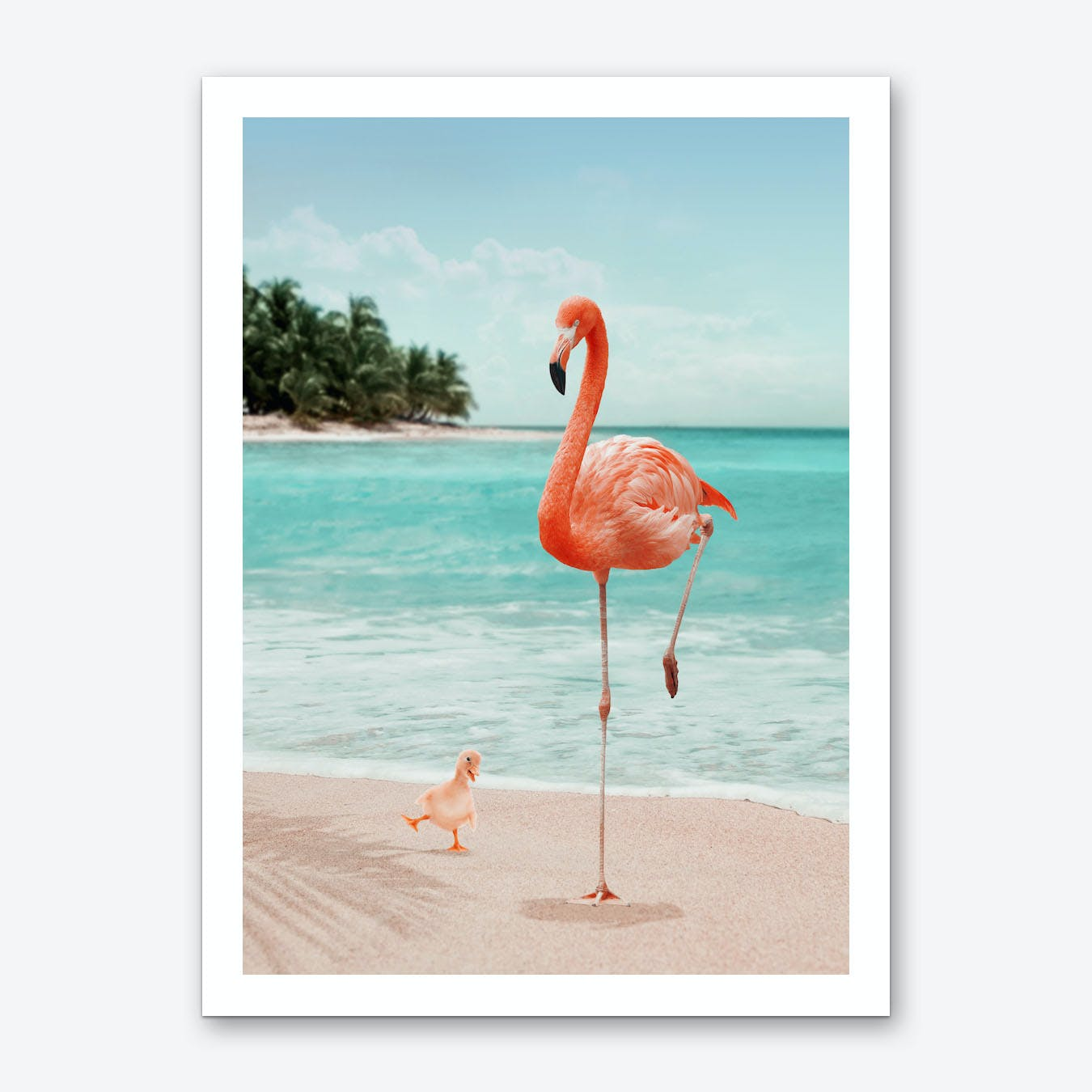 Wannabe Flamingo Art Print