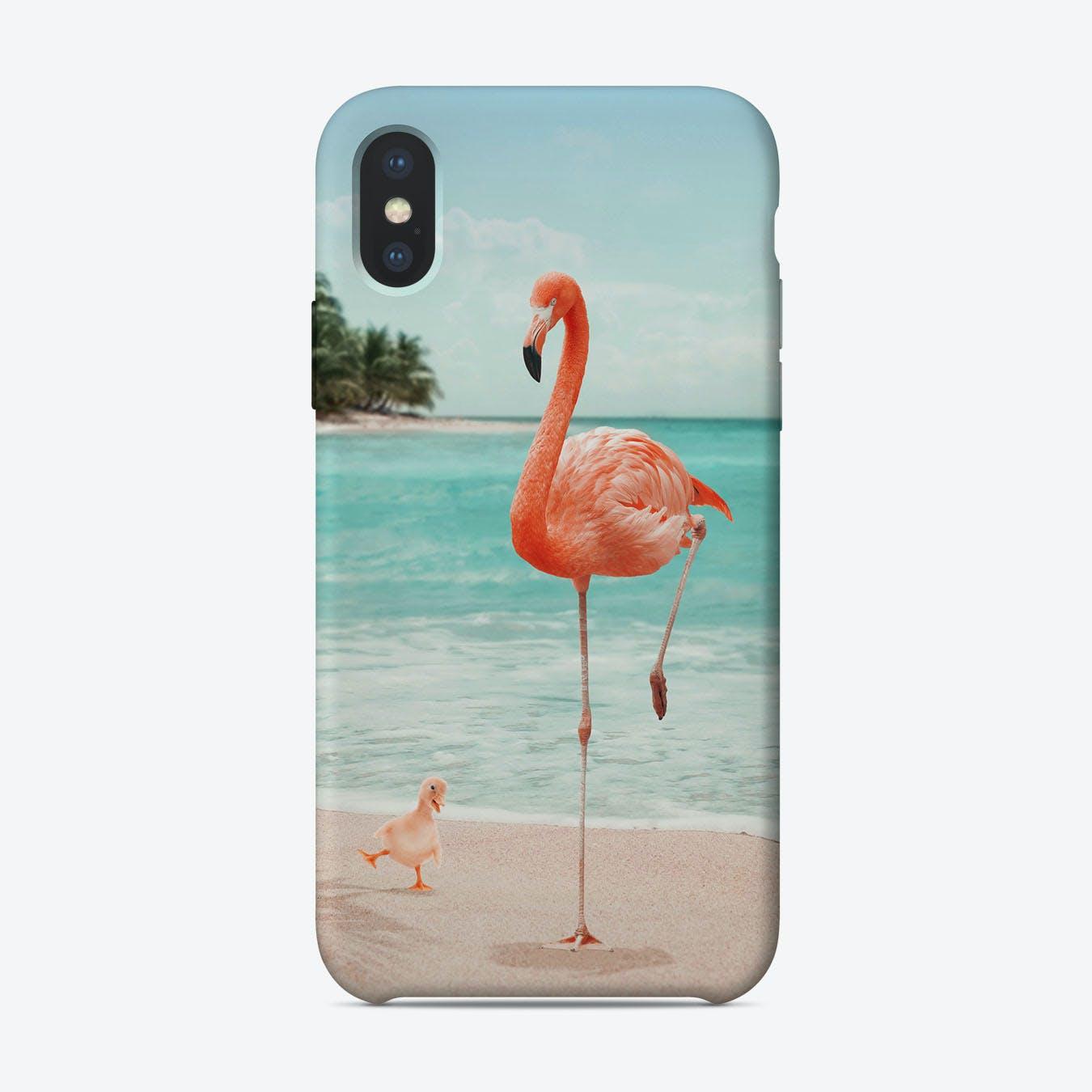Wannabe Flamingo iPhone Case
