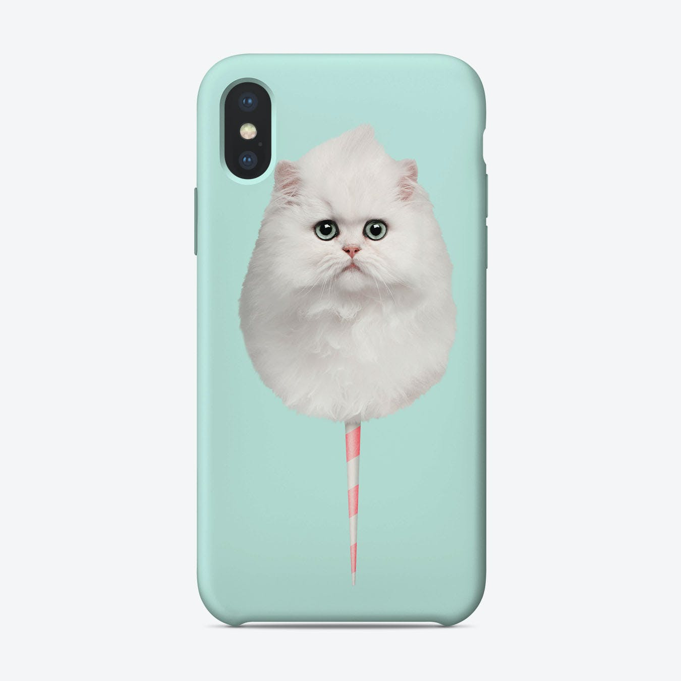 Cotton Candy Cat iPhone Case