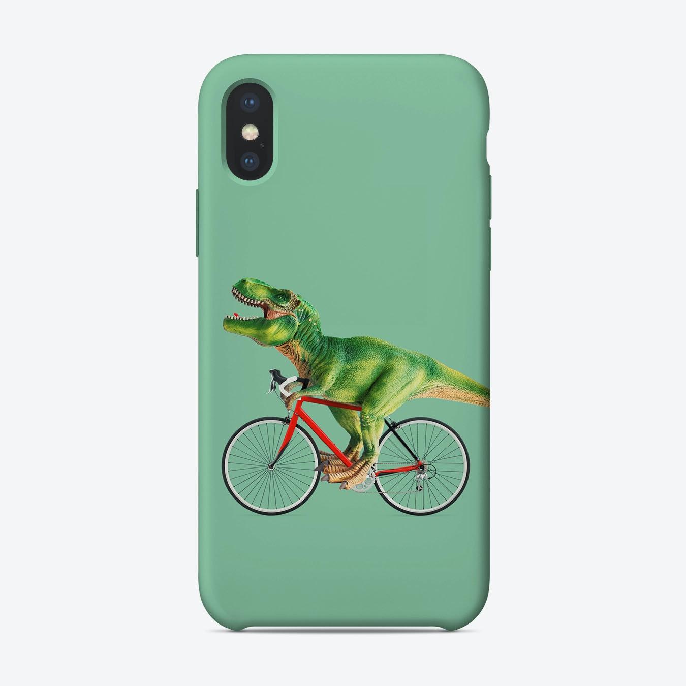 promo code 6369b bc36c T-Rex Bike iPhone Case